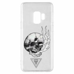 Чохол для Samsung S9 Smoke from the skull