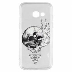 Чохол для Samsung A3 2017 Smoke from the skull