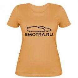 Женская футболка Smotra.ru - FatLine