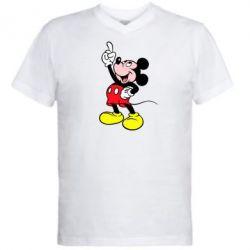 Мужская футболка  с V-образным вырезом Смотри вверх - FatLine