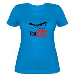 Женская футболка Смотрю ютюб