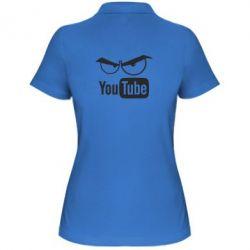 Женская футболка поло Смотрю ютюб