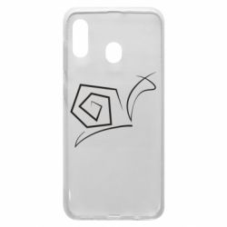 Чехол для Samsung A20 Snail minimalism