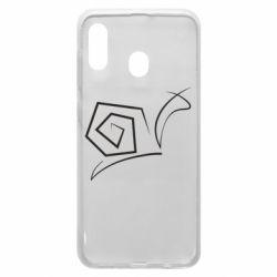 Чехол для Samsung A30 Snail minimalism