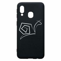 Чехол для Samsung A40 Snail minimalism