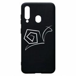 Чехол для Samsung A60 Snail minimalism