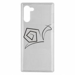 Чехол для Samsung Note 10 Snail minimalism