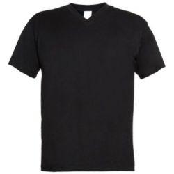 Мужская футболка  с V-образным вырезом Snail minimalism