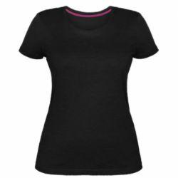 Жіноча стрейчева футболка Snail minimalism