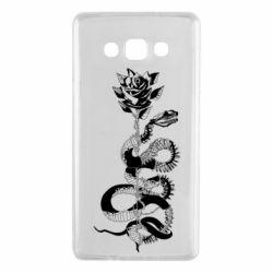 Чохол для Samsung A7 2015 Snake and rose