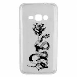Чохол для Samsung J1 2016 Snake and rose