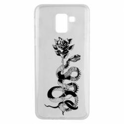 Чохол для Samsung J6 Snake and rose