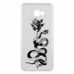 Чохол для Samsung J4 Plus 2018 Snake and rose