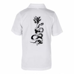 Дитяча футболка поло Snake and rose