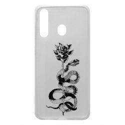 Чохол для Samsung A60 Snake and rose