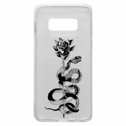 Чохол для Samsung S10e Snake and rose