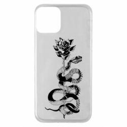 Чохол для iPhone 11 Snake and rose