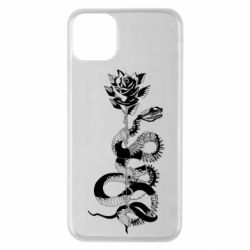 Чохол для iPhone 11 Pro Max Snake and rose