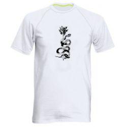 Чоловіча спортивна футболка Snake and rose