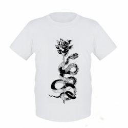 Дитяча футболка Snake and rose