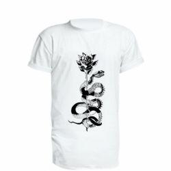 Подовжена футболка Snake and rose