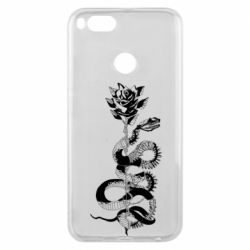 Чохол для Xiaomi Mi A1 Snake and rose