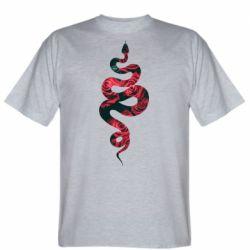 Чоловіча футболка Snake and roses