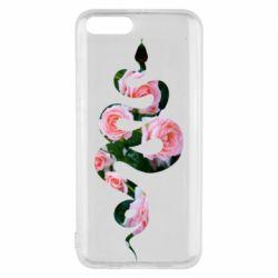 Чехол для Xiaomi Mi6 Snake and roses