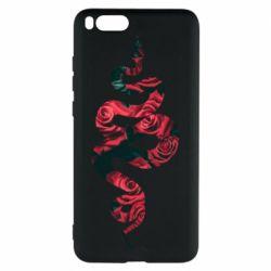 Чехол для Xiaomi Mi Note 3 Snake and roses