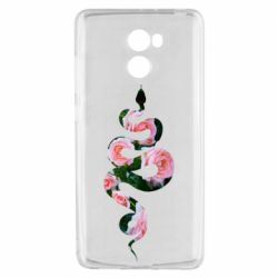 Чехол для Xiaomi Redmi 4 Snake and roses