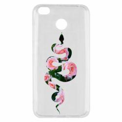 Чехол для Xiaomi Redmi 4x Snake and roses
