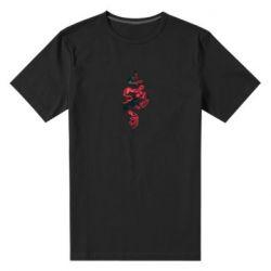 Чоловіча стрейчева футболка Snake and roses