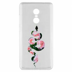 Чехол для Xiaomi Redmi Note 4x Snake and roses