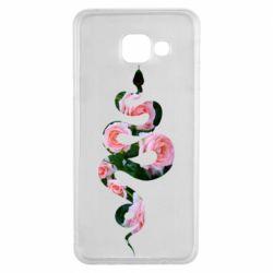 Чохол для Samsung A3 2016 Snake and roses
