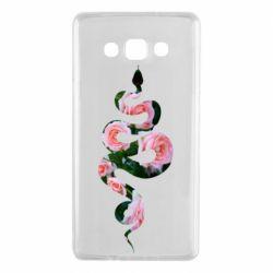 Чохол для Samsung A7 2015 Snake and roses