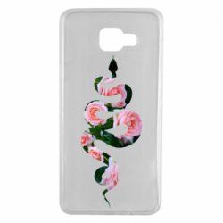 Чохол для Samsung A7 2016 Snake and roses