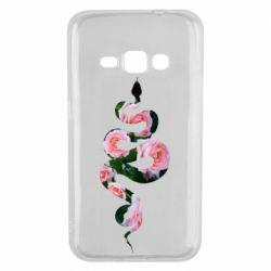 Чохол для Samsung J1 2016 Snake and roses