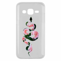 Чохол для Samsung J2 2015 Snake and roses