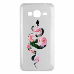 Чохол для Samsung J3 2016 Snake and roses