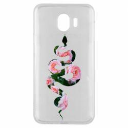 Чохол для Samsung J4 Snake and roses