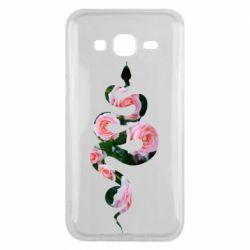 Чохол для Samsung J5 2015 Snake and roses