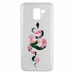 Чохол для Samsung J6 Snake and roses