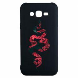 Чохол для Samsung J7 2015 Snake and roses