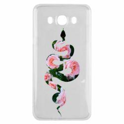 Чохол для Samsung J7 2016 Snake and roses