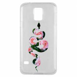 Чохол для Samsung S5 Snake and roses