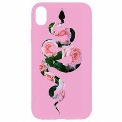 Чохол для iPhone XR Snake and roses