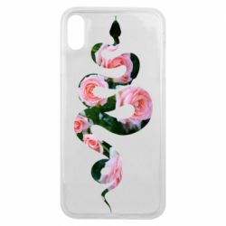 Чохол для iPhone Xs Max Snake and roses