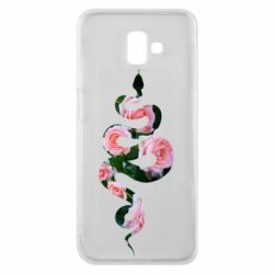 Чохол для Samsung J6 Plus 2018 Snake and roses