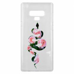 Чохол для Samsung Note 9 Snake and roses