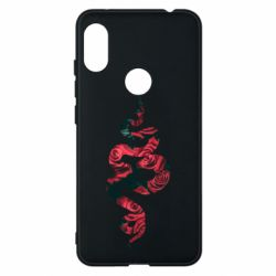 Чехол для Xiaomi Redmi Note 6 Pro Snake and roses